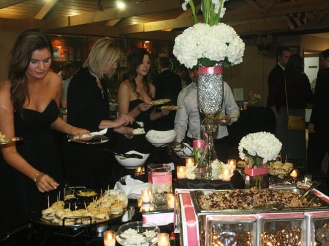 Dinner's Ready Decorated Wedding Buffet