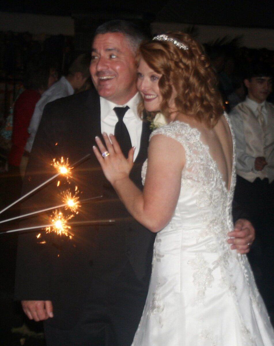 Brown Wedding Bride and Groom