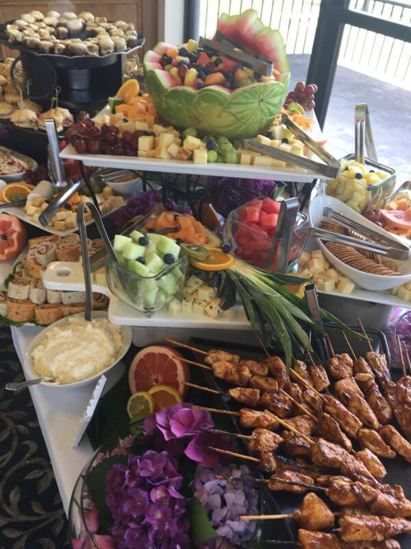 Carved Fruit and Chees Hor d'Oeuvres Display
