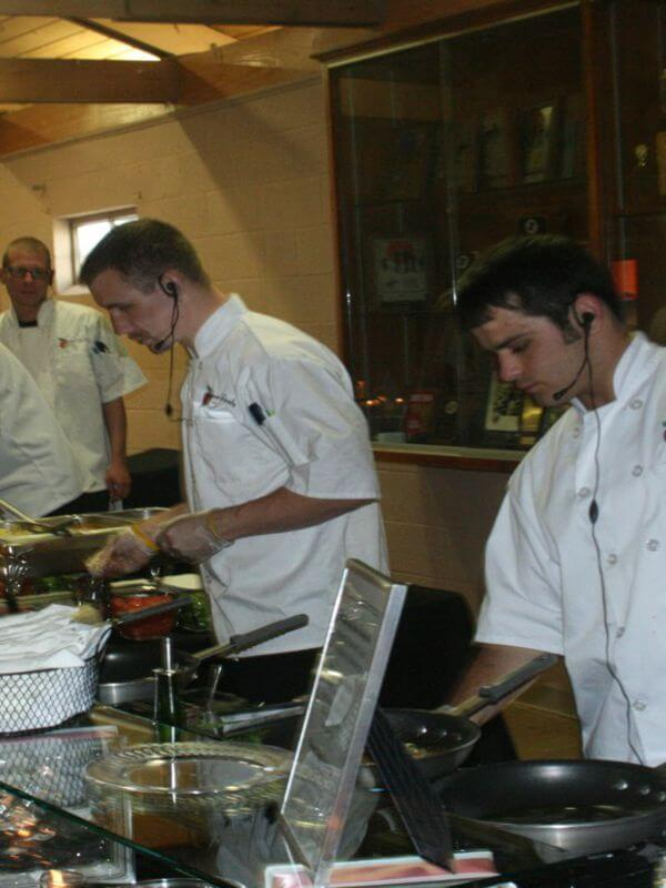 Chefs at Pasta Action Station