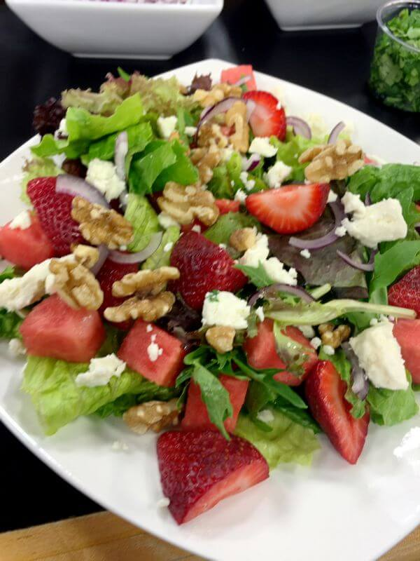 Strawberry Salad with Nuts