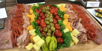 Social Catering Anti Pasta Platter with Meat, Cheese, Olives
