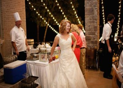Bride at Crepe Action Station - Wedding Page Large Gallery