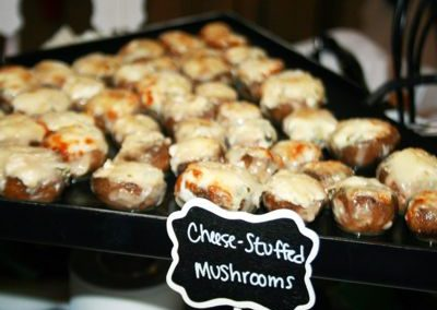 Cheese Stuffed Mushrooms - Wedding Page Large Gallery