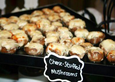Cheese Stuffed Mushrooms - Wedding Page Large Gallery