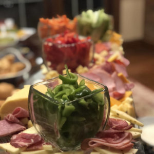 Meat, Cheese and Vegetable Display