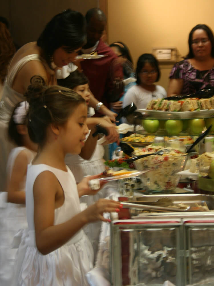 Flower Girls at Buffet - Wedding Moving Gallery 2018