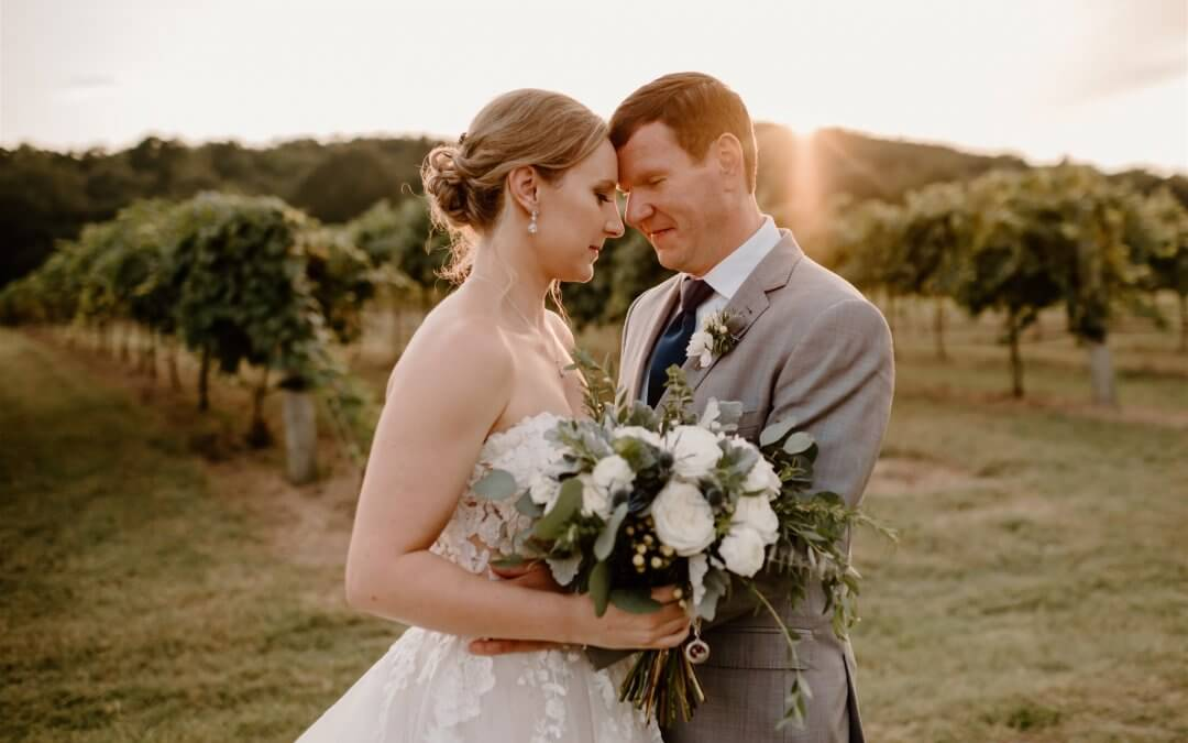 A Sunset Wedding at Rusty Tractor Vineyards
