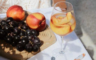 Summer Peach-Citrus Bellini Mocktail Recipe