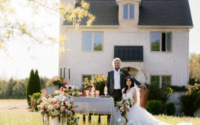 Romeo and Juliet Inspired Elopement in the Garden at Cross Iron Cottage